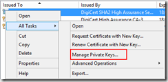 Manage private keys