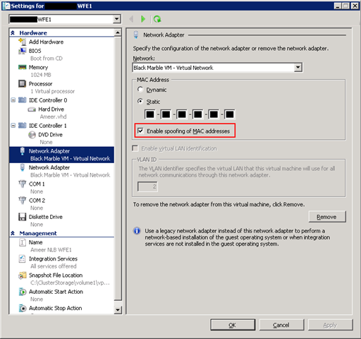 Guest NLB issues on Hyper-V (Windows Server 2008 R2) – Andy