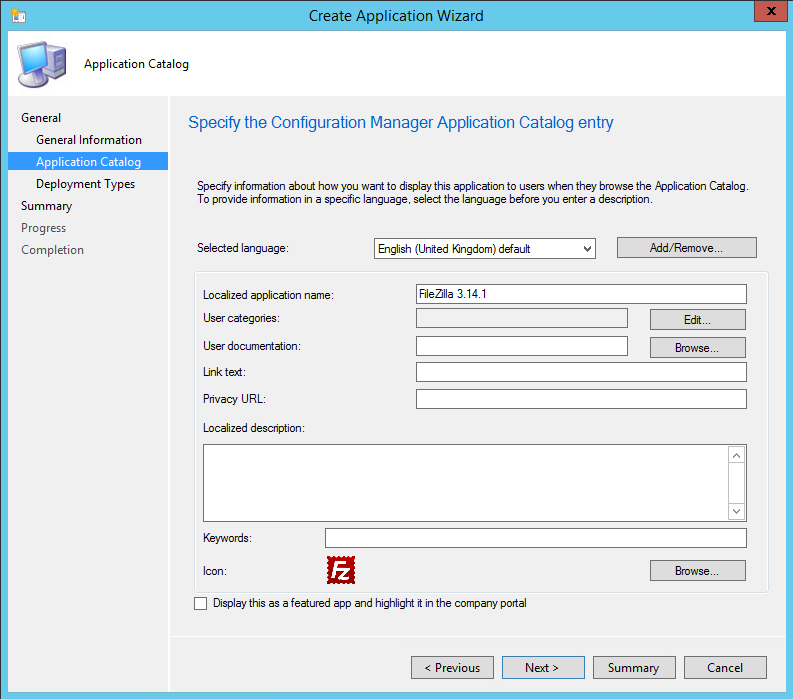 Deploying FileZilla with Configuration Manager 2012 R2