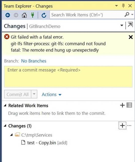 Fixing a 'git-lfs filter-process: gif-lfs: command not found