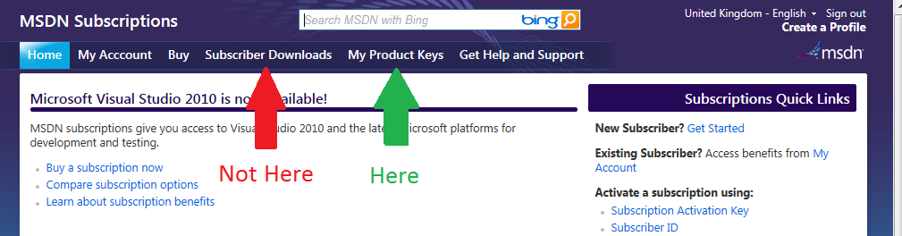 Where do I find the product key for Team Explorer Everywhere