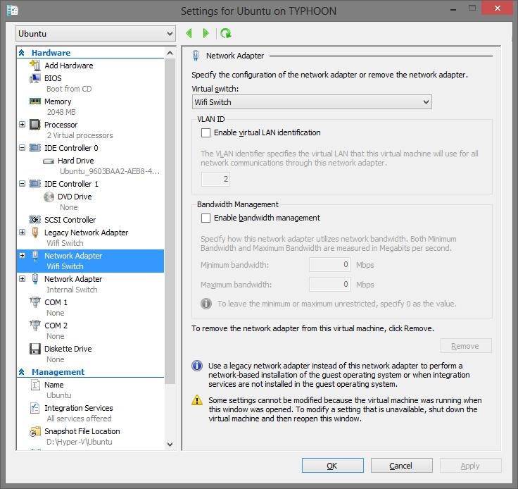 DHCP does not seem to work on Ubuntu for wireless based Hyper-V