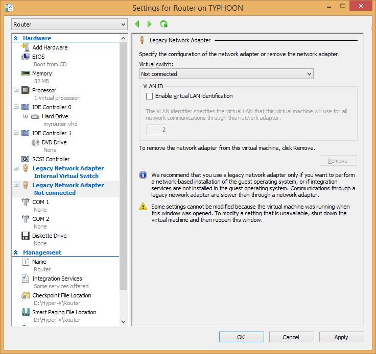 Experiences using a DD-WRT router with Hyper-V – But it